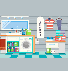 big detailed interior functional and comfortable vector image vector image