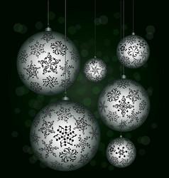 christmas melody musical christmas balls vector image vector image