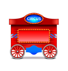 Circus wagon isolated on white vector image vector image