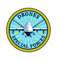 Drones special forces vector image vector image