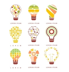 Idea Bulb Different Geometric Abstract Design vector image vector image