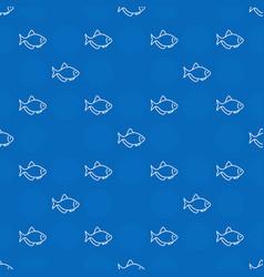 blue aquarium fish pattern vector image vector image