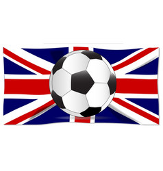 british flag and football vector image