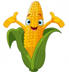 corn cartoon character vector image vector image