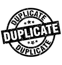 duplicate round grunge black stamp vector image vector image
