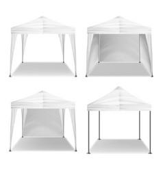 folding tent outdoor pavilion set vector image