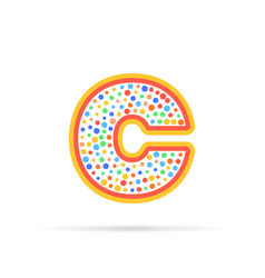 letter c with group of circles abstract logo icon vector image vector image