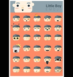 Little boy emoji icons vector image