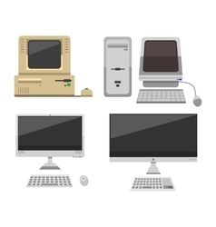 Computer evolution vector image vector image