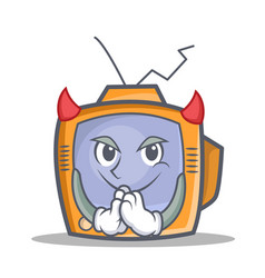 devil tv character cartoon object vector image