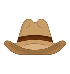 hat cowboy wild west icon vector image