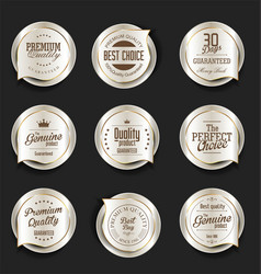 modern design gold and silver sale badges vector image vector image