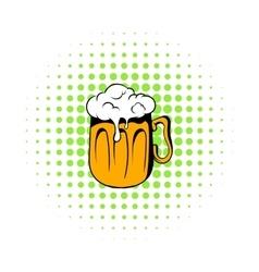 Mug of beer icon comics style vector image vector image