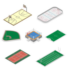 set of playgrounds in isometric vector image