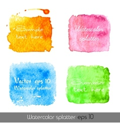 Watercolor splatters vector image