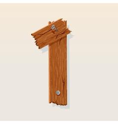 wooden type 1 vector image vector image