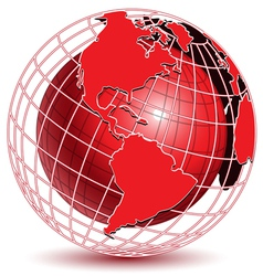 abstract globe icon vector image vector image