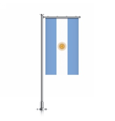 Argentina flag hanging on a pole vector image vector image