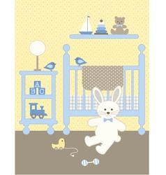 bunny nursery vector image vector image