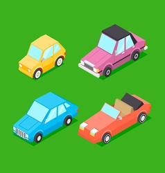 Cartoon Isometric Cars vector image vector image