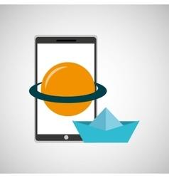 education online smartphone app astronomy creative vector image