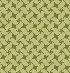 Green seamless pattern swirl leaves vector image