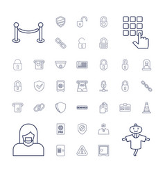 37 security icons vector