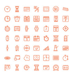 49 time icons vector image