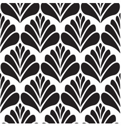 Abstract damask black petal seamless pattern vector