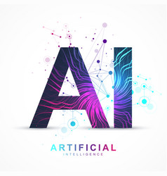 artificial intelligence and machine learning vector image