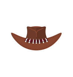 australian crocodile hunter cap cowboy brown hat vector image