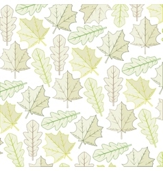Autumn dry leaves background vector