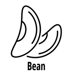 bean icon outline style vector image
