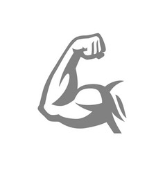 Biceps muscle arm logo vector