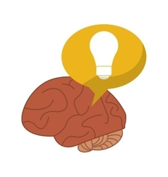 Brain thinking idea bubble vector