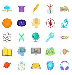 brainstorm icons set cartoon style vector image