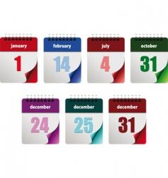calendar dates vector image