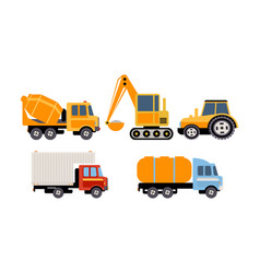 cargo construction and specialized machinery vector image