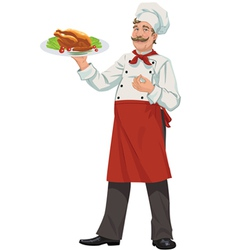 Cheerful chef - vector