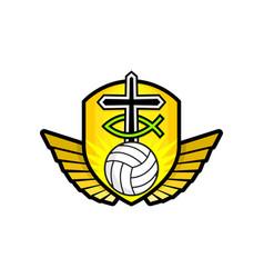 christian sports logo vector image