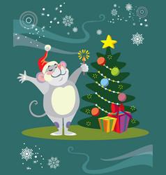 Christmass image 2 vector
