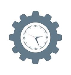 Clock inside gear icon Time design vector