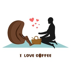 coffee lovers Lovers on picnic Rendezvous in Park vector image