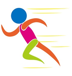 colorful icon man running vector image