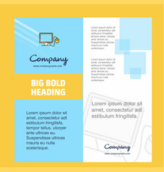 computer company brochure title page design vector image