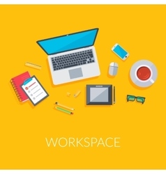 Contemporary workplace background vector
