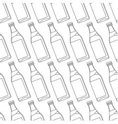 Contour bottles pattern vector