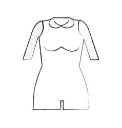 Contour jumpsuit short cloth style vector