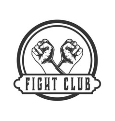 crossed hands design logos for fighting cl vector image