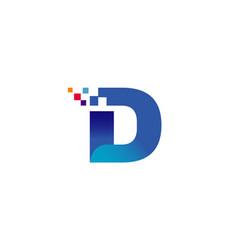 d letter design logo vector image